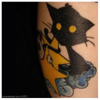 Cat Tattoo. Healed. by Mareve-Design