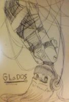 le GLaDOS I drew in real life by bunnyb133