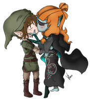 Link x Midna by HeartstitchArt
