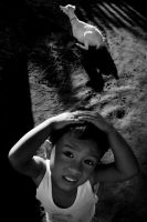 boy and goat by hersley