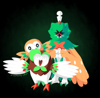 Rowlet Family Portrait by A-Bumbling-Idiot