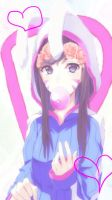Pastel D.va Wallpaper With Hearts by OpsSham