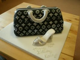 Quick Luis Vuitton cake n shoe by Dragonsanddaffodils