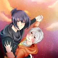No.6 Sion and Nezumi by Ilovehikarukaoru