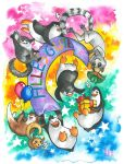 colourful birthday party by Minzenkoenig