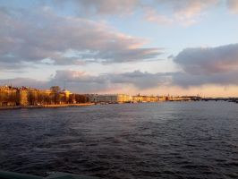 Sunset in Saint Petersburg by zhuravlik26