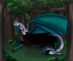 Request- Cuddling in the forest by Narncolie