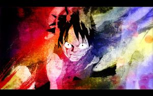 luffy multicolor by Ruk1z