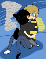 Ask Sollux and Angry Kitten by Pixelized-Dj