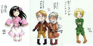 Hetalia Chibis Commission by rain-and-sunshine