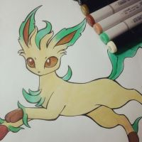 Leafeon by tharesek