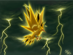 Zapdos, lord of thunderstorms by raykins