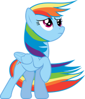 Windswept Rainbow Dash by uxyd