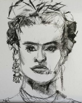 Frida Kahlo Sketch by Bohomouse