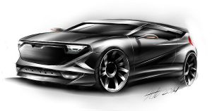 Dacia concept car sketching by koleos33