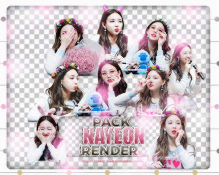 [Pack render #04] 08 PNGS NAYEON-TWICE by Binnie-Xiao