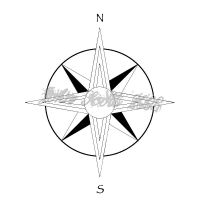 Compass Rose Tattoo by jawnx108