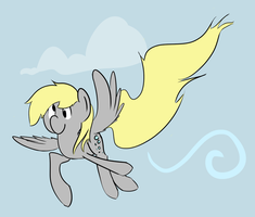 Derpy's Derpy Flight by brentsienna