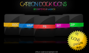Carbon Dock Icon Set by e-Quinox