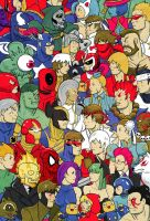 Marvel vs. Capcom by cheshirecatart