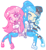 Starry Babes by Hasana-chan