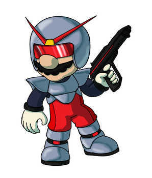 Laser Suit Mario by TerryRed