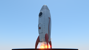 Retro Rocket by galantyshow