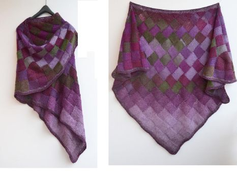 Purple shawl enterlac by dosiak