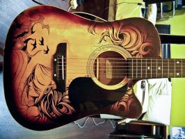 Guitar Sharpie Art 1 by ZeonFlux