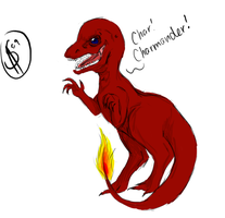 Realistic-style Charmander by XantheStar