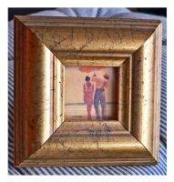antique style gold frame 4 by clandestine-stock