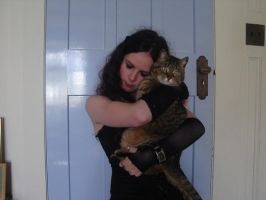 with my cat... by Wyrd-Sistas-Stock