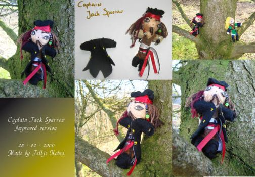 Jack Sparrow NEW Rope doll by LadyRafira