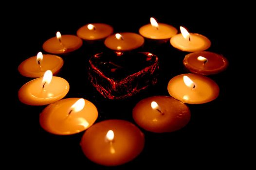 Heart of Candles by Darkness-in-the-lens