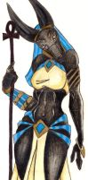 The Female Anubis by Neon7Husky