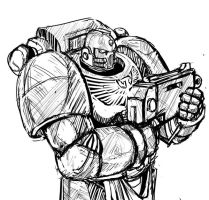 Space Marine 123 by MathiasTemplar