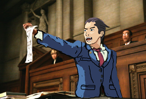 phoenix wright cosplay painteo by afaces