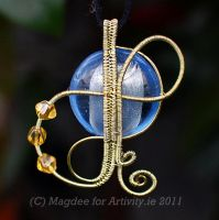 Champagne on ice pendant by Mag-Dee