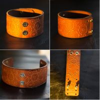 Steampunk Cogs Gears Leather Bracelet by TimforShade