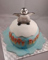 Happy Feet Cake by sparks1992