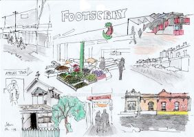 Footscraypencilsketches by JohnCOh