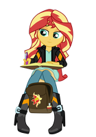 EqG Sunset Shimmer by TwiMix
