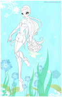 Wanda underwater colouring page by Coloralecante