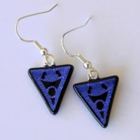Glass Invader Zim Earrings by FusedElegance