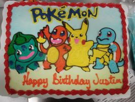 pokemon birthday cake by nickolaswand