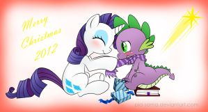 Spike x Rarity Christmas HWE by Pia-sama
