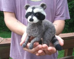 Needle Felted Raccoon by JessieDockins