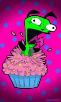 Gir's Cuppycake Surprise Attack! by LykosAnubis