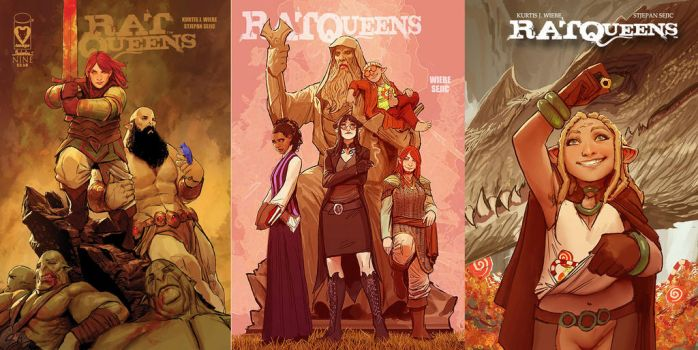some rat queens covers by nebezial
