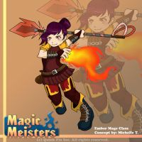 Magic Meisters: Ember Mage Class Concept by PolyMune
